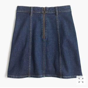 JCrew Factory Denim From Zip Skirt